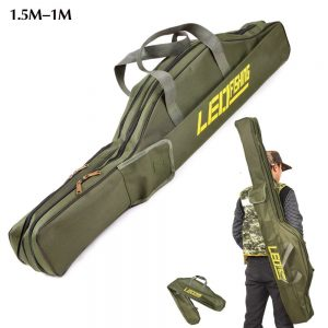 Foldable pot belly fishing rod bag