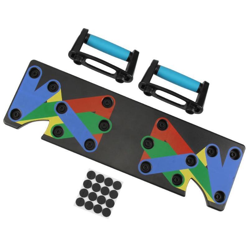 Nine-function push-up board bracket for indoor gymmer