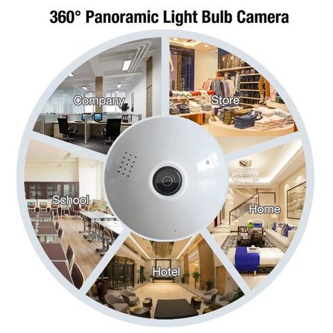 LED Light Bulb Spy Camera