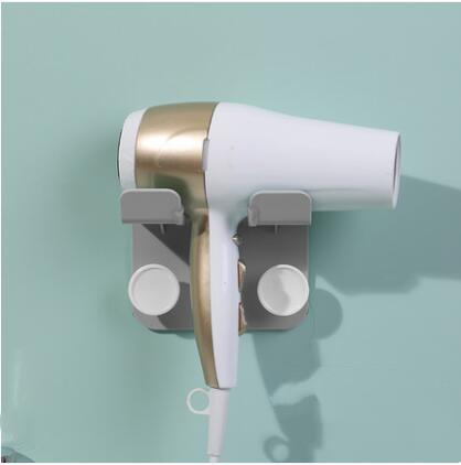 Bathroom hair dryer rack free punch hook bracket