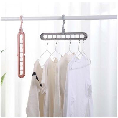 9-hole Clothes Hanger Organizer Space Saving Hanger