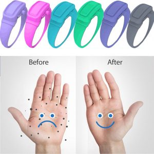Portable Hand Sanitizer Disinfectant Bracelet Wearable Hand Wash Gel Dispenser