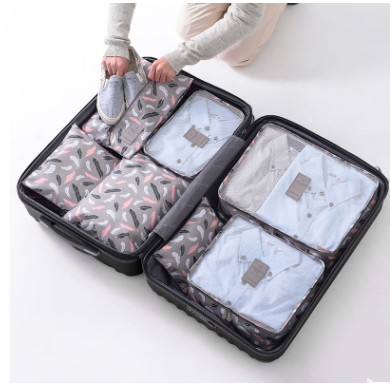 Travel Bag For Clothes Functional Travel Accessories Luggage Organizer High Capacity Mesh Packing Cubes